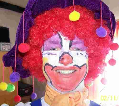 Den Clown erkannten die Kitakinder nicht...