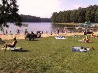 Gut besucht: Strandbad am Glambecksee (Głębokie) ©ASC