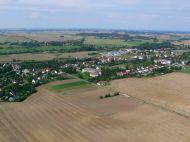 Die Gemeinde Tantow von oben - jedenfalls ziemlich viel davon... (Bild A.M.)