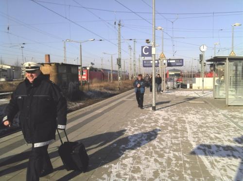 Der Bahnhof Angermünde: Fahrgäste sind immer wieder gezwungen auf den