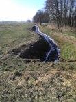 Noch fließt das Wasser im Tantower Landwehrgraben (hier bei Neu-Schönfeld am heutigen Vormittag) Foto: ASC