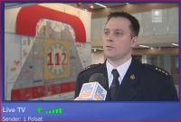 """Auch in Polen wurde heute für den """"Euronotruf 112"""" im TV u. bei diversen Veranstaltungen geworben (Screenshot: POLSAT/Onlineredaktion)"""