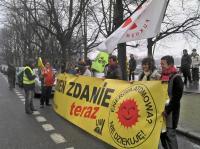 Aktivisten aus der Uckermark unterstützen den Protest. (Foto: ASC)