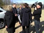 Bürgermeisterin D. Oppelt gibt im Dialog mit den Reportern (Fotos: ASC)