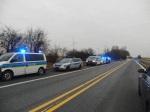 Polizeiaufgebot auf der BAB 11 - Bundes- und Landespolizeikräfte (Bild privat)