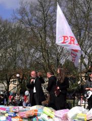 Familienvater: Piotr Krzystek, der Stettiner Stadtpräsident sprach ein Grußwort (© A. Schwarze)