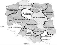 Künftige Abteilungsstruktur des Polnischen Grenzschutzes (aus der Verfügung des polnischen Innenministeriums)