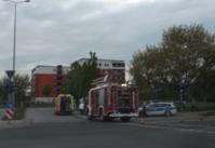 Am Herrentag in Schwedt. Auch zu anderen Einsätzen rückten Polizei & Retter aus. (Bild A.M. ca. 20:00 Uhr)