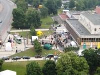 Die Eröffnung aus 60 m Höhe! (Bild F.M. für © gemeinde-tantow.de)