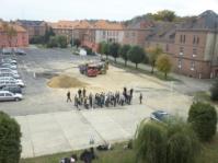 Uniformklasse beim polnischen Grenzschutz im COSSG Luban (Bild A.M.)