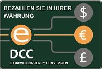 Vorsicht: Mit diesem Aufkleber an Kassen u. Schaufenstern wirbt beispielsweise eservice.pl (PKO) für den vermeindlich günstigen Wechselkurs