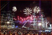Mitternacht Feuerwerk auf der Oder (©ASC)