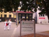 Zufahrt zur Rettungsstelle des Klinikum Schwedt (© A. Schwarze)