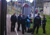 BPol-Beamte stellen Schwarzfahrer in Casekow (Foto: A. Schwarze)