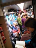 """Stehende Fahrgäste bis Stettin Hbf., so fängt das Wochenende """"gut"""" an... (Foto: Privat)"""