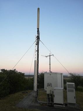 Der Telekom Mast auf dem Stettiner Berg. Er soll durch einen neuen mast und neue Antennen erstezt werden. (Foto: A. Schwarze)